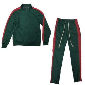 Green/Red Track Suit