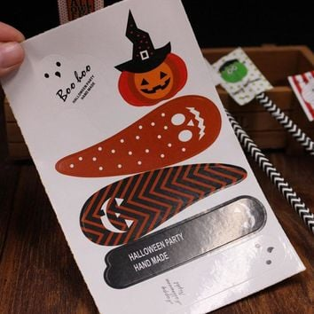 10 Sheets Cute Halloween Stickers Ghost Pumpkin Decals Labels for DIY Gift Wrapping Sealing Packaging Decoration