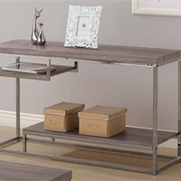 Tri-Level Weathered Grey Sofa Table - Coaster 703729