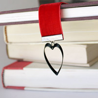 Red Heart Crushed Velvet Bookmark - Perfect for Her Romance Novel like 50 Shades
