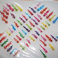Sale Packs Face jewel Bindis Multicolor Red Yellow Blue Pink Orange Green Body Bindi Tikka.(60 in a pack)