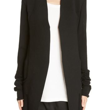 Rick Owens Structured Longline Cardigan | Nordstrom