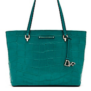 DVF Voyage Ready To Go Croc Tote
