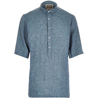 River Island MensGreen Holloway Road linen shirt