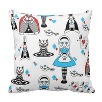 *Cats and Dolls Patterned Pillows