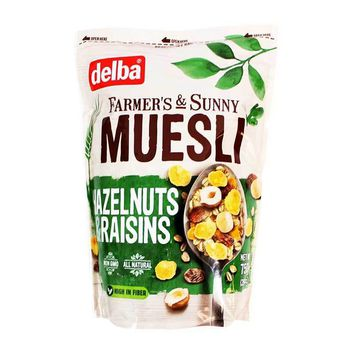 Delba - Muesli with Hazelnuts and Raisins, 26.5 oz. (750 g)
