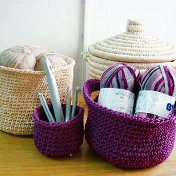 Crochet Baskets PDF PATTERN Home Decoration Storage