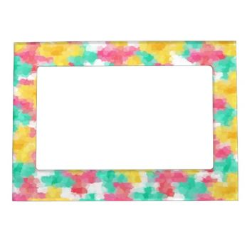Summer flowers magnetic photo frames