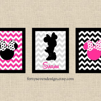 Minnie Mouse Wall Art Disney Silhouette Minnie Mouse