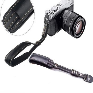 Leather Camera Wrist Strap Grip for SLR DSLR  Photographer Gift - CAST52
