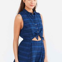 Cooperative Joey Collared Tie-Front Romper