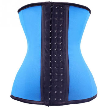 NEW Beauty Women High Waist Thin Breathable Waist Training Belt with 3 Lines Buckles Waist Training Corset for Bodybuilding *46