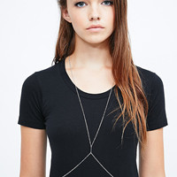 Fine Body Chain in Silver - Urban Outfitters