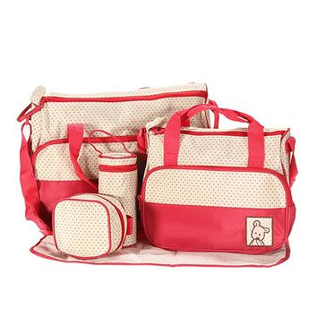 Organizers / Bags - Free Shipping - Baby Diaper / Storage Bag - 5 Piece set - Red
