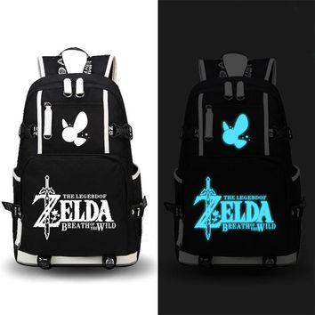 2017 New Game The Legend of Zelda: Breath of the Wild Backpack School Bags Unisex Travel Laptop Bags