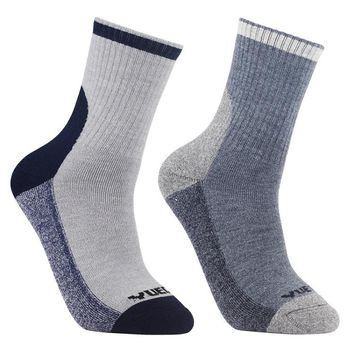YUEDGE 2 Pairs High Quality Men's Merino Wool Hiking Walking Socks Outdoor Sport Multi Performance Crew Socks(2018 Newest)