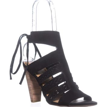 Lucky Brand Radfas Lace-Up Sandals, Black, 10 US / 40 EU