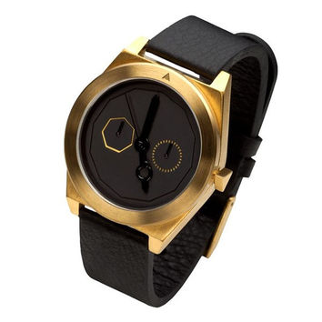 Elegant Gold Tone Timepiece by AARK Collective