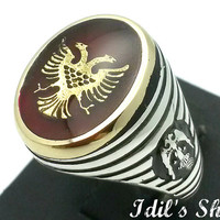 Men's Ring, Turkish Ottoman Style Jewelry, 925 Sterling Silver