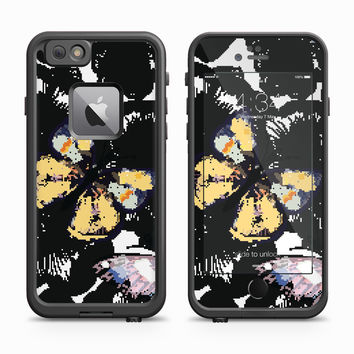 Monarch Butterfly Floral Blossom Skin for the Apple iPhone LifeProof Fre Case