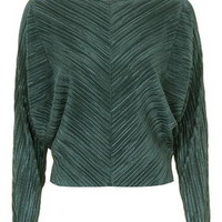 Pleat Batwing Top - Sage