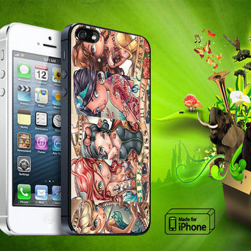 Disney Tattoo Princess Samsung Galaxy S3/ S4 case, iPhone 4/4S / 5/ 5s/ 5c case, iPod Touch 4 / 5 case