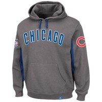 Majestic Chicago Cubs Major Play Pullover Hoodie - Granite