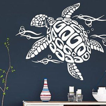 Wall Decal Vinyl Sticker Decals Turtle Tortoise Tortoiseshell Ocean Sea C267