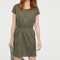 Jersey Dress - Khaki green - Ladies | H&M US