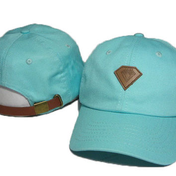 diamond baseball cap hip hop women men strapback snapback hat unisex hiking fishing cap bone Sky Blue
