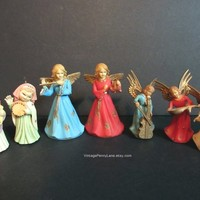 Vintage Christmas Ornaments, Plastic Angel Ornaments, Traditional Holiday Ornaments