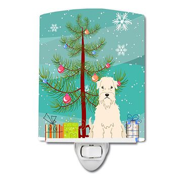 Merry Christmas Tree Soft Coated Wheaten Terrier Ceramic Night Light BB4186CNL