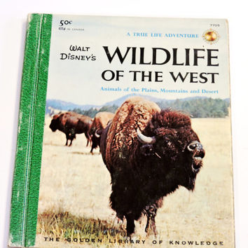 Wildlife of the West Book Animals of the Plains Mountains Desert 1958 Vintage Walt Disney Wild Life Reference Book itsyourcountry