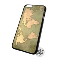 Vintage World Map Cell Phones Cases For iPhone, iPad, iPod, Samsung Galaxy, Note, Htc, Blackberry
