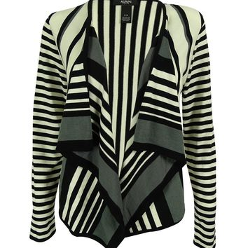 Alfani Women's Draped Striped Cardigan