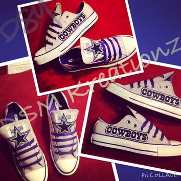 Custom Dallas Cowboys Converse Low's - gray/blue