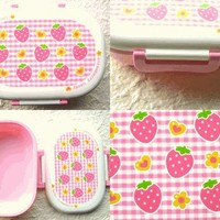 Cute Japanese Bento Box Strawberry Candy