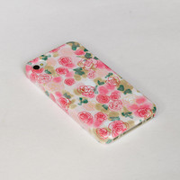 Rose iphone 5 case ,Floral iphone 4s case,  iphone 4 case flower , plastic case , iphone cover