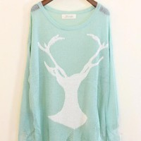 Mohair Holes Antlers Sweater  $50.00