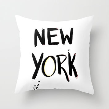 New York Throw Pillow by Talula Christian
