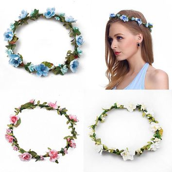 Bridesmaid Flower Wreath Artificial Flower Head Wreath For Hair Floral headband Hair accessories Flower Headpiece Flower crown