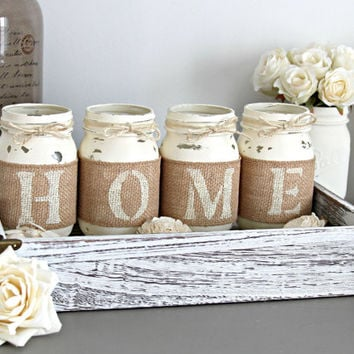 Rustic Home Decor,Rustic Decor,Rustic Table Centerpieces,Rustic Sign,Housewarming Gift,Rustic Jars Decor,Shabby Chic Home Decor,mason jars