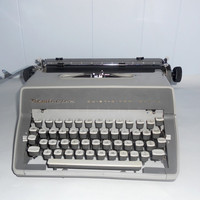 Vintage Remington Typewriter Gray Quiet Riter by houseofheirlooms