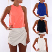 Candy Color Sleeveless Camisoles