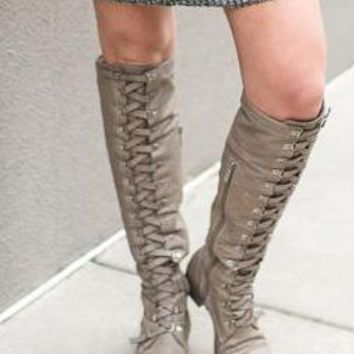 Finished Pair Laced Boots
