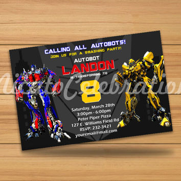 Transformers Design Invitation - Digital File