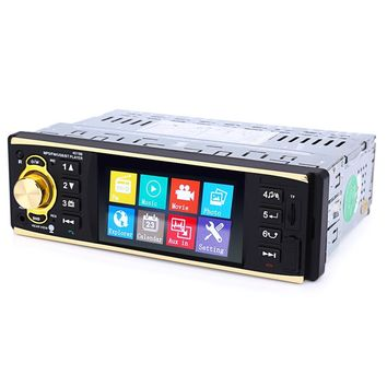 4019B 4.1 inch 1 Din Car Radio Auto Audio Stereo 1Din USB AUX FM Radio Station Bluetooth with Rearview Camera Remote control