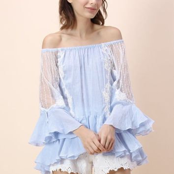 Dulcet to Go Frill Hem Top