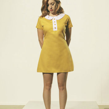 Shop Mustard Yellow Dress on Wanelo