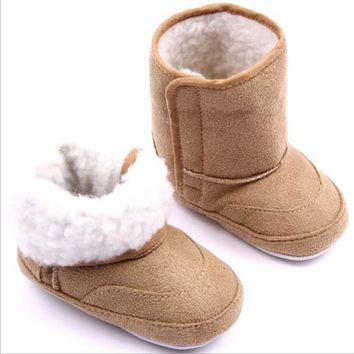 New Winter Super Warm Newborn Baby Boys Girls First Walkers Shoes Infant Toddler Soft Rubber Soled Anti-slip Boots Booties 0-1T
